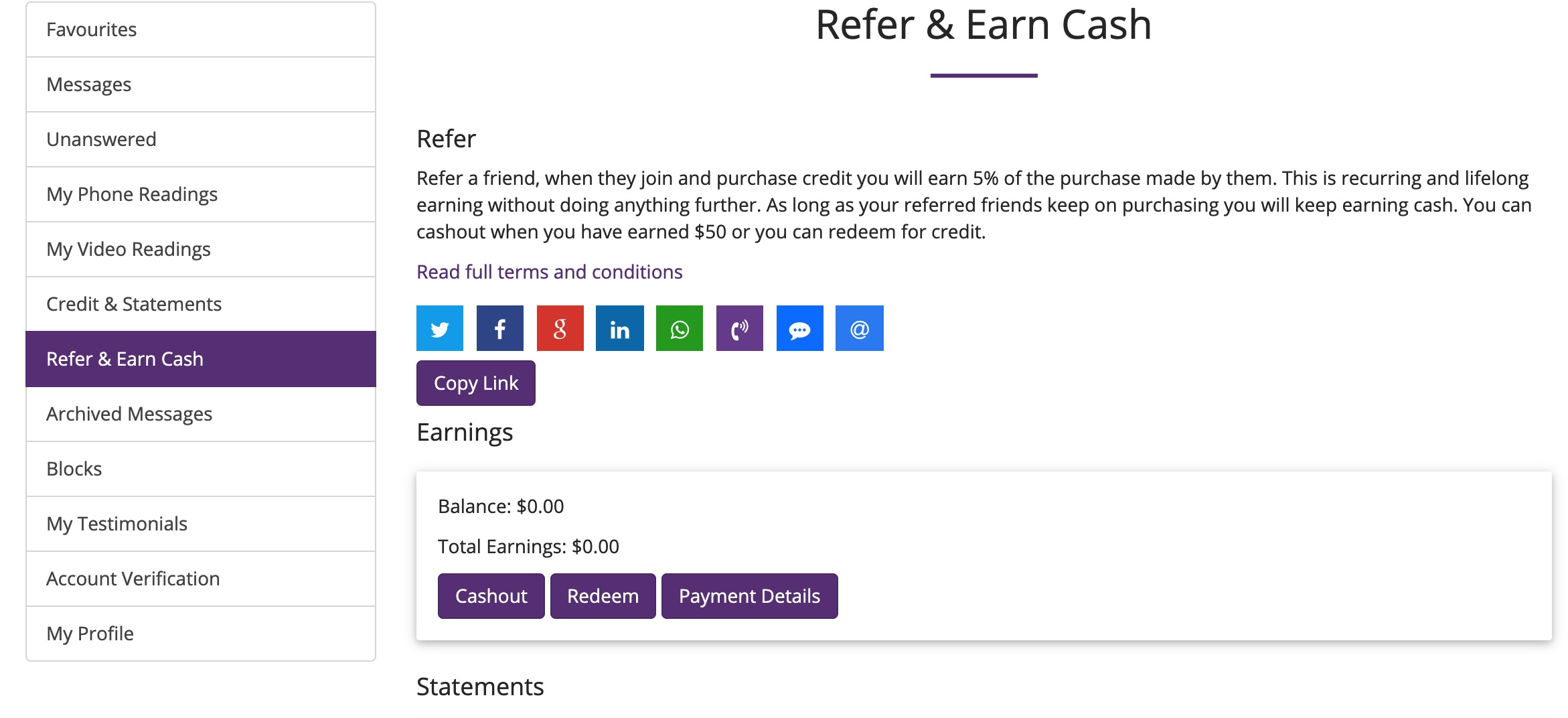 Refer And Earn Cash Web